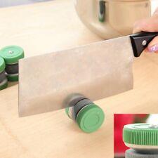 Grün Double Sides Schleifstein Rund Messerschärfer Küche Werkzeugen @97k u @ff