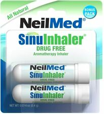 NeilMed Sinuinhaler DRUG FREE NATURAL Aromatherapy Sinus Nose Inhaler EXP 10/21