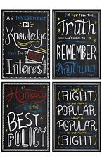 Motivational Posters Inspirational Wall Art Positive Quote Classroom Bedroom (4)