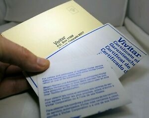 Vivitar Certificate of warranty card vintage for electronic flash
