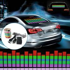 Music Rhythm Car Sticker LED Flash Light Lamp Sound Activated Equalizer 45x11cm