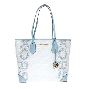 RRP €300 MICHAEL MICHAEL KORS Tote Bag Large Textured Logo Print Removable Pouch