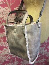 Suri Frey Faux Suede Bag with Detachable Handle Pink  Grey With Removable Pouch