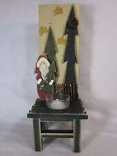 Père Noël vert bougeoir décorative noël vacances décor arbres