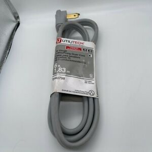 NEW UTILITECH 3-wire/prong Dryer Cord - 6ft 10 Gauge 30 AMP