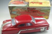 MINISTER FRICTION POWERED PONTIAC 1950's CAR RED TIN/METAL VF CONDITION WITH BOX