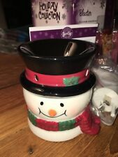 Scentsy Plugin Warmer BLUSTER  Christmas Snowman Brand New in Box -Apple Pie Wax