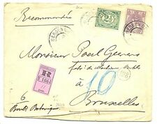 NEDERLAND 1906 REG CV  # 55 , 66  ( 17½ ct ) TO BELGIUM  FINE !!