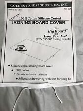 "Ironing Board Cover To Fit A Big Board 22"" X 58-60"" Silicone Coated Golden Hands"