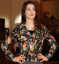 SPECIAL TOPSHOP HAND PAINTED LEATHER FLORAL BIRD ANIMAL JACKET FOX S 4 XS SMALL