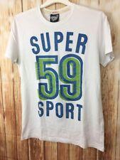Genuine SUPERDRY Designer Champion Super 59 Sport White Cotton T-Shirt Large L