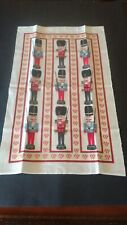 "Mary Hopking Christmas Nutcracker Soldiers Tapestry with Rod Pocket 16"" X 27"""