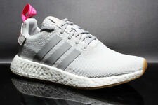 ADIDAS NMD_R2 WOMENS BY9317 GREY SHOCK PINK WHITE SIZE: 7.5