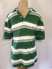 Tommy Hilfiger Striped Polo Shirt Men's Medium Shirt Sleeves Cotton
