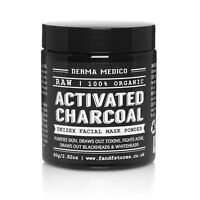 RAW Activated Charcoal Coconut Shell Powder Unisex Facial Mask by Derma Medico