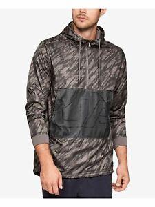 Under Armour $110 Mens Brown Lightweight Hooded Windbreaker Jacket L B&B