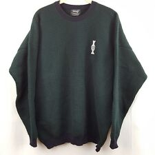 PING Size 44 Sweater Solheim Cup 1994 Wool Cashmere Green Blue Scotland Vintage
