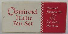 Osmiroid Pen Set Fountain Pen & 6 Assorted Italic Nibs In Box