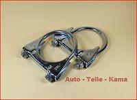 2 x Auspuffschelle für Audi , BMW , Chrysler , Montageschelle / Clamp M8 Ø 60 mm