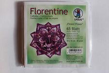 Faltblätter Florentine Flower Power 01 ; 65 Blatt 10 * 10  cm 80 g/qm
