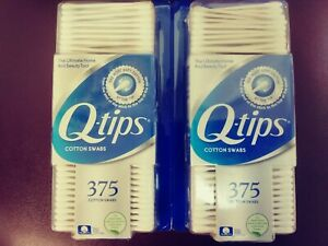 Pack of 2 Q -Tips Cotton Swabs 375 count FREE SHIPPING