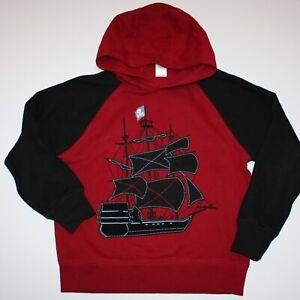 Gymboree Pirates Adventure Pirate Ship Hoodie size M 7 8