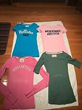 Pre-Owned Junior Girls Hollister/A&F:Short,Long&1/4 Sleeve Shirts Size Small