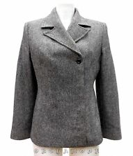 Veste COTE FEMME T 38 / 40 M / L 2 / 3 Blazer gris Hiver 40% laine TBE jacket