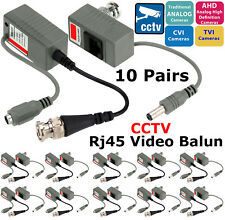 10X Pairs CCTV Camera Video Balun Power & BNC To RJ45 UTP Cat5 6 7 Cable Adapter