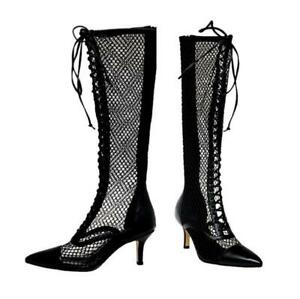 Sexy Women's Pointy Toe Knee Thigh High Boots High Heel Party Summer Sandals L
