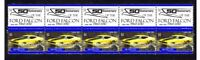 FORD 50th ANNIV STRIP OF 10 MINT VIGNETTE STAMPS, XB FALCON 1