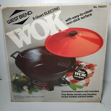 West Bend 6 Quart Electric Wok Vintage Non-stick 79525X w/rack NEW Sealed 1984