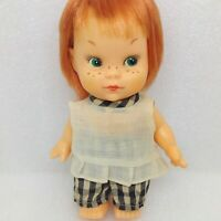 Vintage Adorable Titian Redhead Red Hair Doll Freckles Doll Japan Green Eyes
