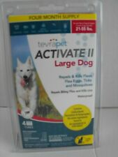 TevraPet Activate II Large Dogs 21-55 lbs ~ 4 Month Supply NEW