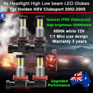For Holden HSV Clubsport 2002-2005 4x 360° Headlight Globes High Low Beam Bulbs