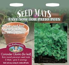 Mr Fothergills - Herb - Coriander Cilantro For Leaf 8cm Seed Mats