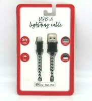 Gabba Goods 6 ft Leather Braided* Lighting To USB Cable~ For iPod iPhone /& iPad