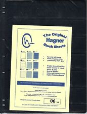 HAGNER ORIGINAL STOCK SHEETS PACK OF 10  6 ROWS  SINGLE SIDE