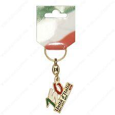 Portachiavi tricolore in metallo. Commemorativo 150° Anniversario Unità d'Italia