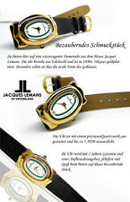 Ladies Luxury Jacques Lemans watch 18 CARAT GOLD PLATED SWISS MADE OVAL SHAPE