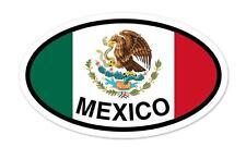 """Mexico Flag Oval car window bumper sticker decal 5"""" x 3"""""""