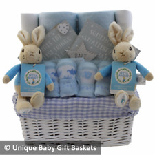 Baby gift basket/hamper Peter Rabbit twin boys baby shower boy twins nappy cake