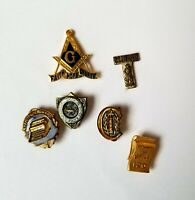 Freemason Pin & Assorted Small Vintage Pins