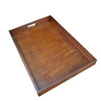 Groß Holz Serviertablett 60cmx40cmx6cm IN Brauner Farbe