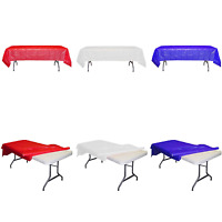 4th of July PATRIOTIC Party tablecloth Plastic RED, WHITE, BLUE TABLE COVER