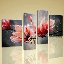Huge Canvas Wall Art Tulip Flower Abstract Floral Painting Giclee Print Framed
