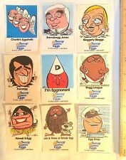 1970S SUNNY QUEEN EGGS PROMO STICKERS TRADING CARDS WEG ARTIST! EGGCELLENT-NMINT
