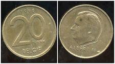 BELGIQUE  20 francs  1998  ( belgie)
