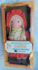 "Knickerbocker Carrie Holly Hobbie's Friend, Miniature Rag Doll, 1974 Mib 8"" size"