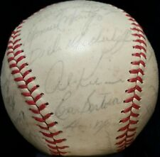 1961 DETROIT TIGERS TEAM Signed OAL Baseball AL KALINE JIM BUNNING CASH vtg